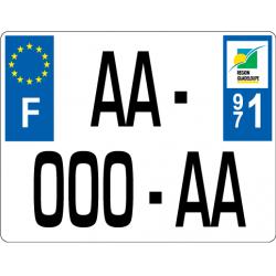 Plaque standard PLEXIGLAS® 170x130 mm avec texte sous la plaque