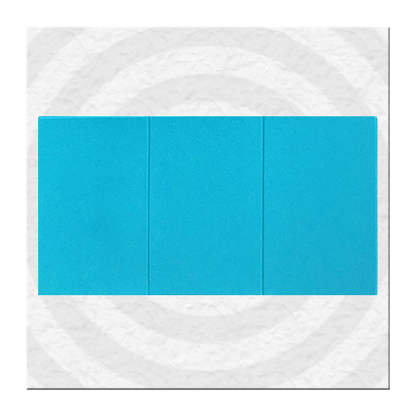 Porte-carte grise 3 volets pleins en gomme PVC de couleur