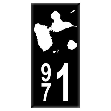 Sticker Département 972