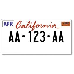 Plaque US PLEXIGLAS® 300x150mm - California