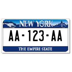 Plaque MOTO PLEXIGLAS® 175x100mm - New York