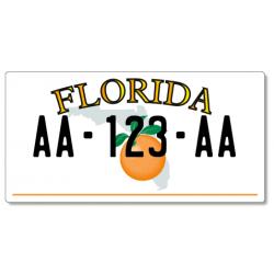 Plaque Moto US PLEXIGLAS® 175x100mm - Florida