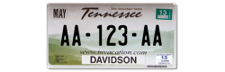 Plaque US PLEXIGLAS® 300x150mm - Tennessee