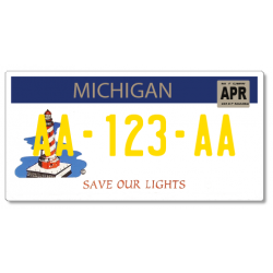 Plaque US PLEXIGLAS® 300x150mm - Michigan