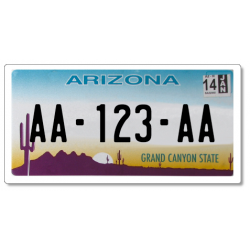 Plaque CUSTOM US PLEXIGLAS® 175x100 mm - Arizona