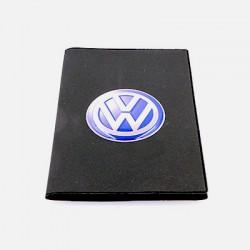 Porte-carte grise Vokswagen avec son logo en relief (3D)