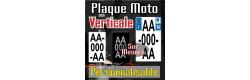 Plaque moto PLEXIGLAS® VERTICALE (immatriculation sur 3 lignes)