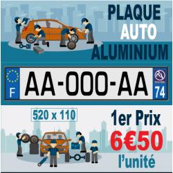 Plaque standard 1er PRIX en Aluminium 520x110 mm