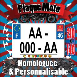 Plaque standard PLEXIGLAS® 210x140 mm avec texte sous la plaque