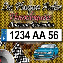 Plaque PLEXIGLAS® ancienne immatriculation 520x110 mm