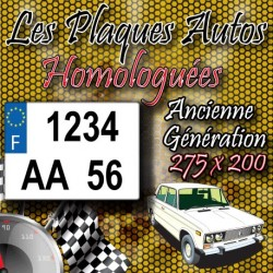 Plaque PLEXIGLAS® 4x4 ancienne immatriculation