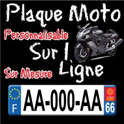 Plaque moto PLEXIGLAS® (immatriculation sur 1 ligne)