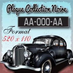 Plaque noire aluminium 520x110 mm collection