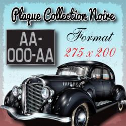 Plaque noire aluminium 275x200mm collection
