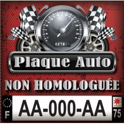 Plaque AUTO non homologuée Et/ou sur mesure (Format, logos régions modifiés …)