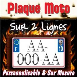 Plaque moto PLEXIGLAS® format Carré (immatriculation sur 2 lignes)