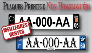 plaque immatriculation prestige automobile