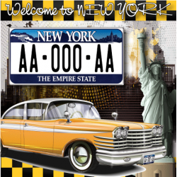 Plaque US PLEXIGLAS® 300x150mm - New York